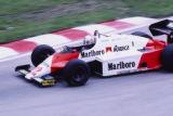 Andrea de Cesaris in the Belgian Grand Prix