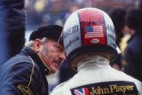 Colin Chapman and Mario Andretti