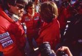 Alain Prost and Keke Rosberg