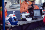 Alain Prost and Stefan Johansson Helmets