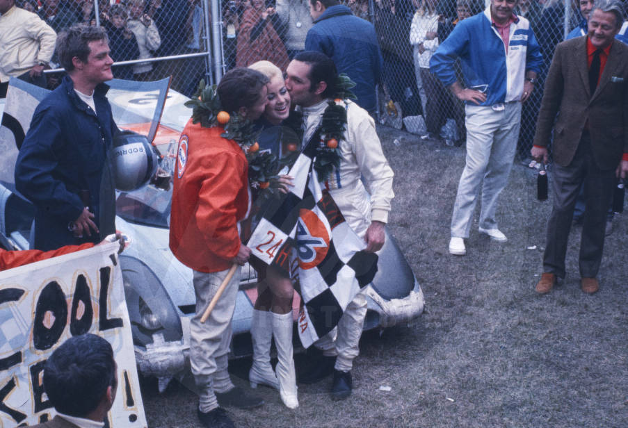 January 31-February 1, 1970 L: Leo Kinnunen. Right: Pedro Rodriguez. Porsche 917
