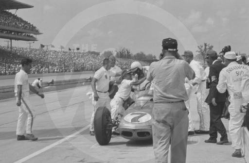 Car number 7, a Watson, driven by Len Sutton.