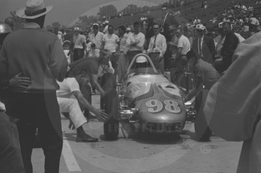 Car number 98, a Watson, driven by Parnelli Jones.